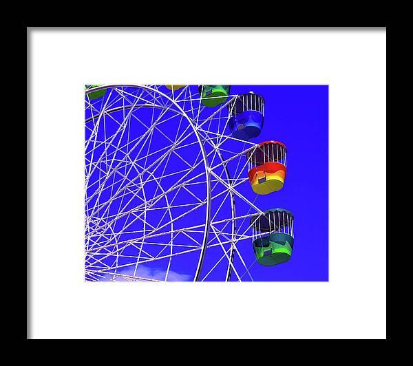 Outdoors Framed Print featuring the photograph Ferris Wheel, Sydney, Australia by Hans-peter Merten