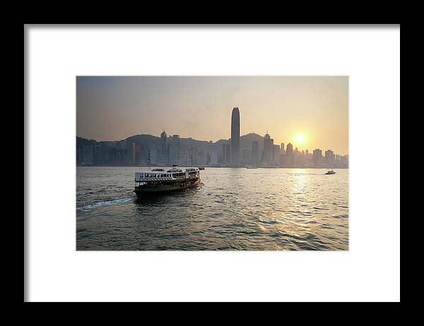 Chinese Culture Framed Print featuring the photograph Ferry Boat To Hong Kong by Simonbradfield