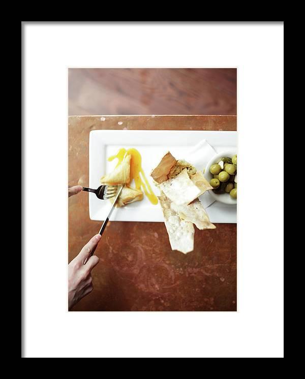 Feta Cheese Framed Print featuring the photograph Feta Crisps by Caleb Condit