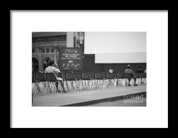 Furnishing Framed Print featuring the photograph Few People At Open-air Cinema Hall by Anna Jurkovska