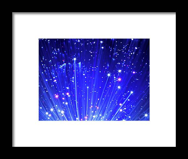 Technology Framed Print featuring the photograph Fiber Optic Cables by Gandee Vasan