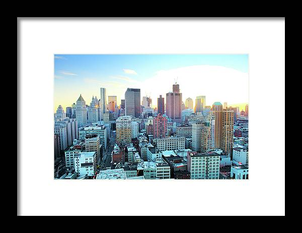 Tranquility Framed Print featuring the photograph Financial District by Tony Shi Photography