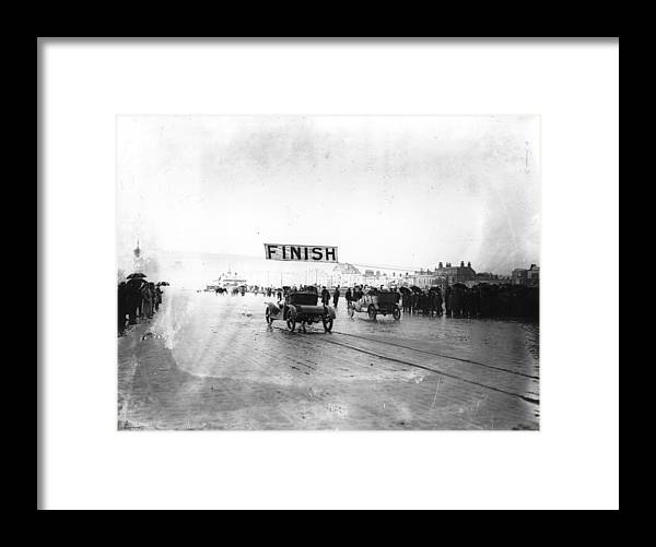 Crowd Framed Print featuring the photograph Finish Of Race by Topical Press Agency