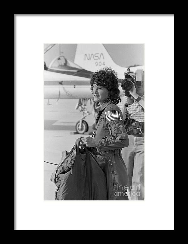 Expertise Framed Print featuring the photograph First Female American Astronaut Sally by Bettmann