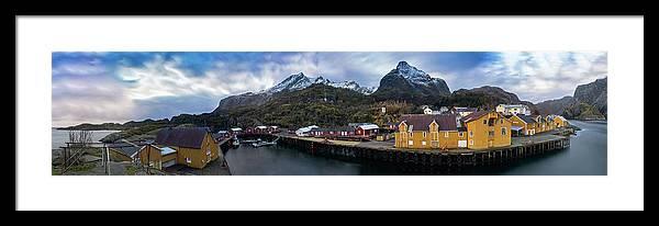 Coastline Framed Print featuring the photograph Fishing Village A On Lofoten by Kai Mueller