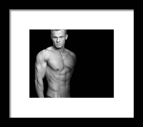Cool Attitude Framed Print featuring the photograph Fitness Portrait by Ragnak