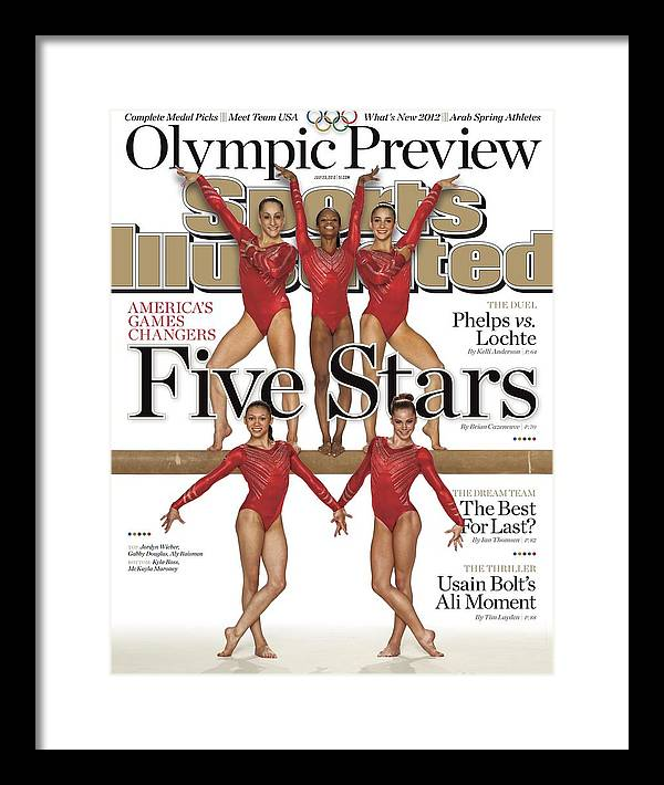Magazine Cover Framed Print featuring the photograph Five Stars 2012 London Olympic Games Preview Sports Illustrated Cover by Sports Illustrated