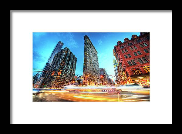 Outdoors Framed Print featuring the photograph Flatiron by Tony Shi Photography