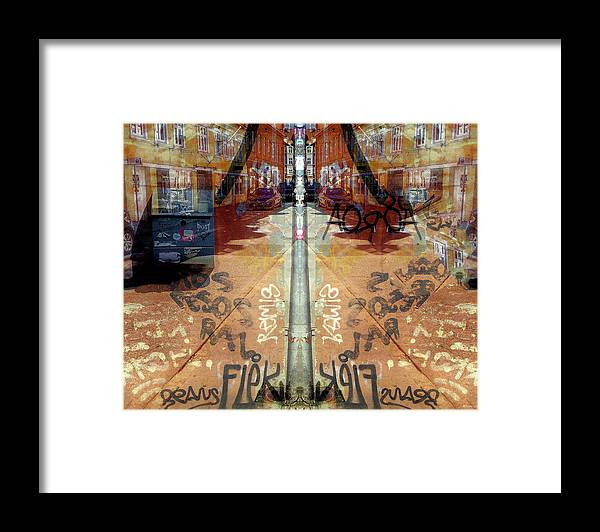 Fine Art Framed Print featuring the digital art FLeK by Ole Klintebaek