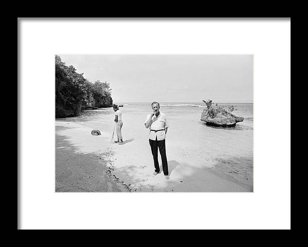 Ian Fleming Framed Print featuring the photograph Fleming In Jamaica by Harry Benson