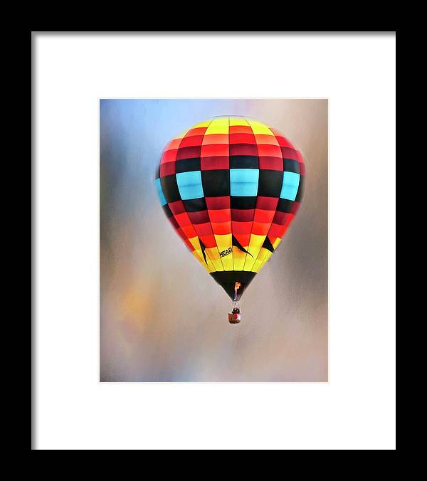 Fine Art Photography Framed Print featuring the photograph Flight of Fantasy, Hot Air Balloon by Zayne Diamond Photographic