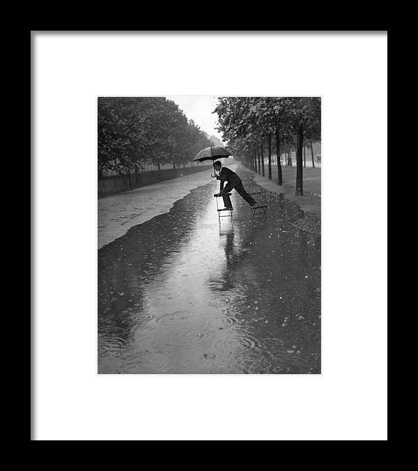 Viewpoint Framed Print featuring the photograph Flooded Mall by H. F. Davis