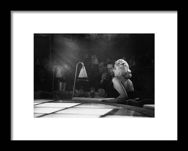 1950-1959 Framed Print featuring the photograph Floor Show Audience by Kurt Hutton