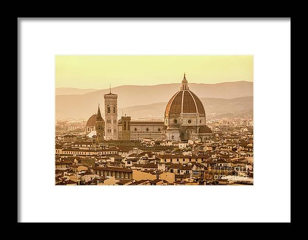 Florence Framed Print featuring the photograph Florence Duomo by Delphimages Photo Creations
