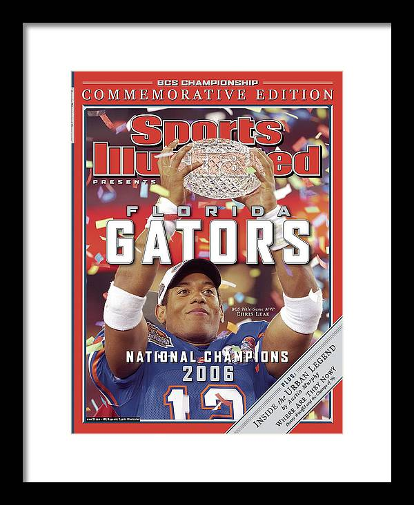 Magazine Cover Framed Print featuring the photograph Florida Qb Chris Leak, 2007 Bcs National Championship Game Sports Illustrated Cover by Sports Illustrated