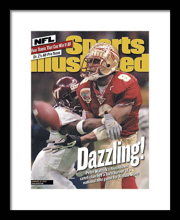 Magazine Cover Framed Print featuring the photograph Florida State University Peter Warrick, 2000 Nokia Sugar Sports Illustrated Cover by Sports Illustrated
