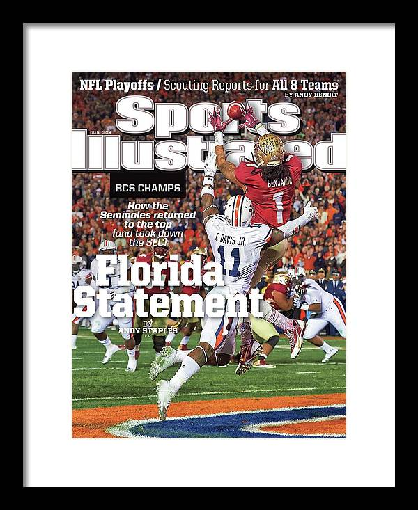 Magazine Cover Framed Print featuring the photograph Florida Statement 2013 Bcs Champion Sports Illustrated Cover by Sports Illustrated