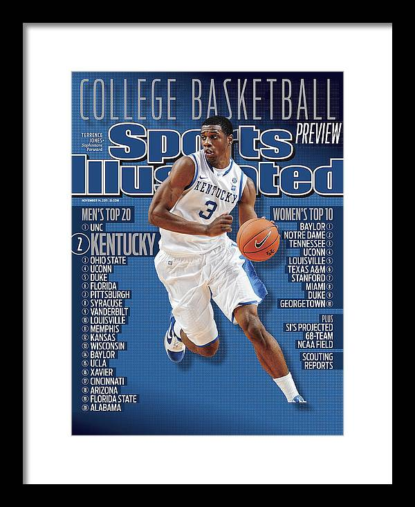 Magazine Cover Framed Print featuring the photograph Florida V Kentucky Sports Illustrated Cover by Sports Illustrated
