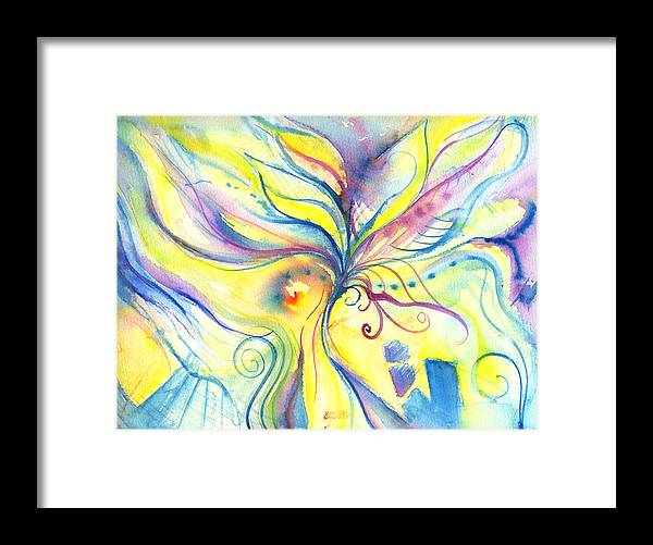 Rectangle Framed Print featuring the digital art Flower Of The Soul by Stereohype