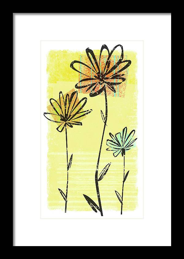 California Framed Print featuring the digital art Flowers In Springtime by Harry Briggs