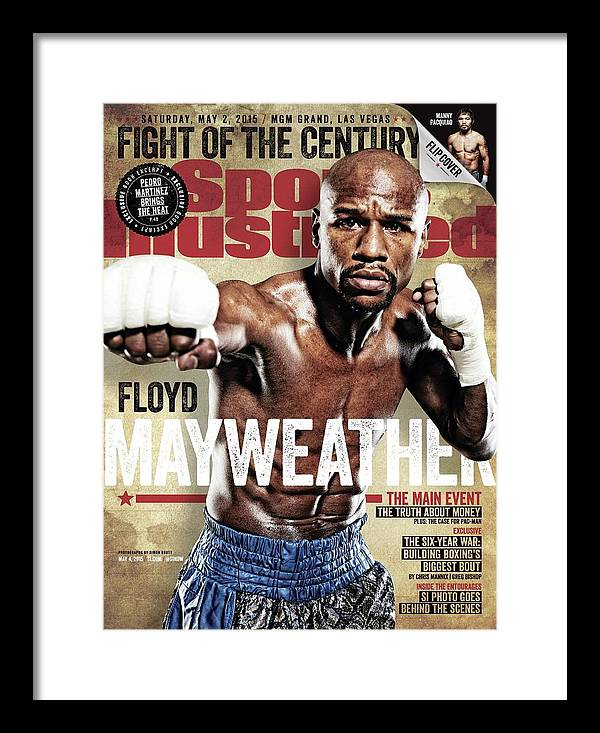 Event Framed Print featuring the photograph Floyd Mayweather Jr., 2015 Wbawbcwbo Welterweight Title Sports Illustrated Cover by Sports Illustrated