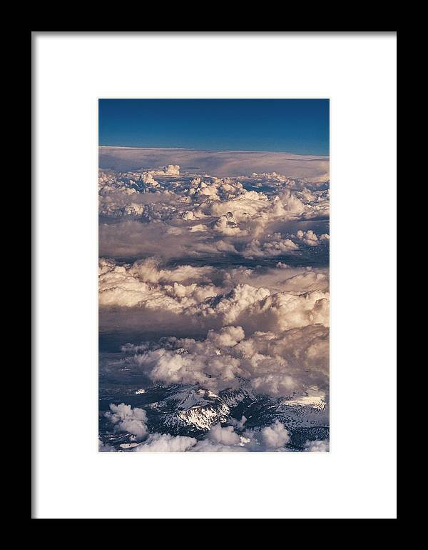 Fly Framed Print featuring the photograph Flying Over The Rocky Mountains by Steven Ralser