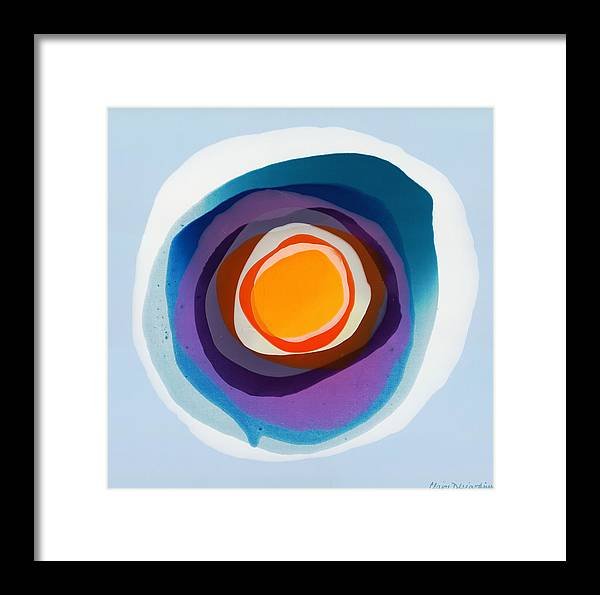 Abstract Framed Print featuring the painting Focussed by Claire Desjardins