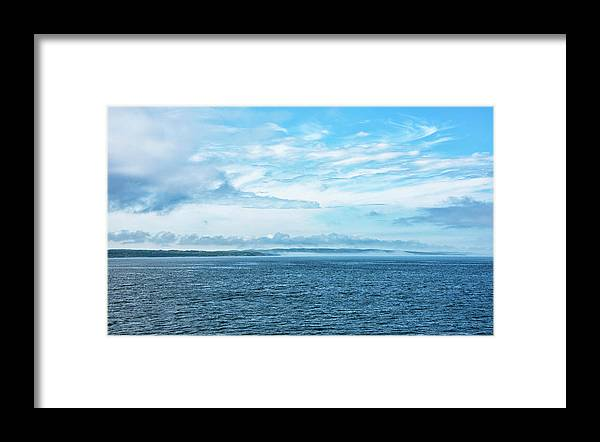 Vineyard Sound Framed Print featuring the photograph Fog Rolls In On Marthas Vineyard by Brendan Reals
