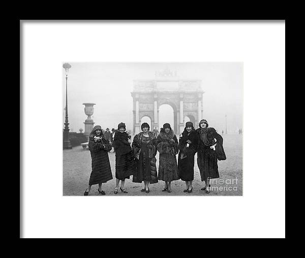 People Framed Print featuring the photograph Follies Beauties Score Hit In France by Bettmann