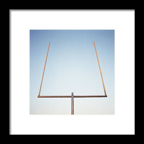 Goal Framed Print featuring the photograph Football Goal Post by Mike Powell