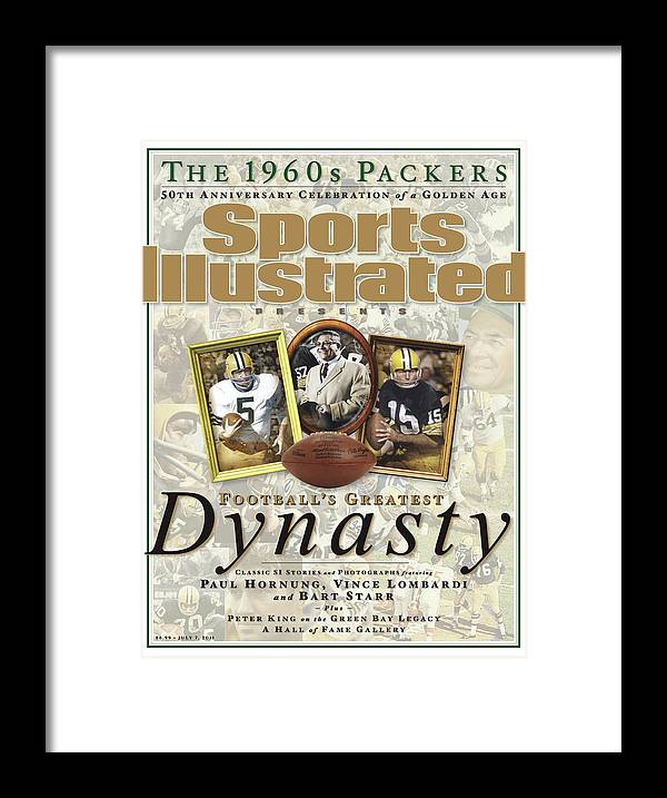 Celebration Framed Print featuring the photograph Footballs Greatest Dynasty The 1960s Packers Sports Illustrated Cover by Sports Illustrated