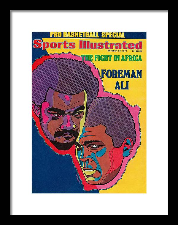 Heavyweight Framed Print featuring the photograph Foreman And Ali, Fight In Africa Preview Sports Illustrated Cover by Sports Illustrated