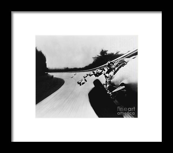 People Framed Print featuring the photograph Formula One Race In Grand Prix by Bettmann