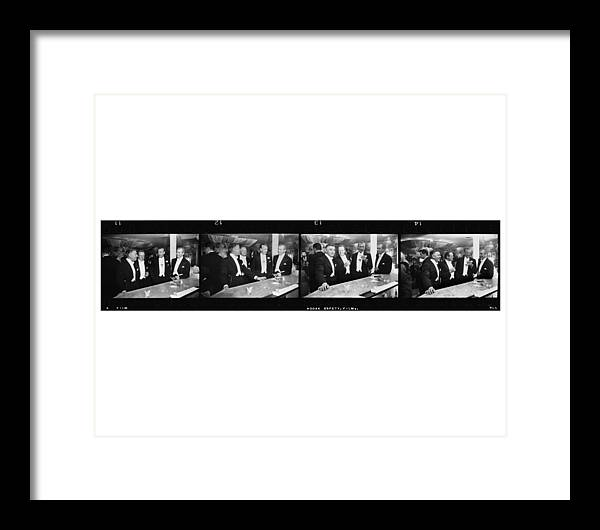 Jimmy Stewart Framed Print featuring the photograph Four Kings Of Hollywood by Slim Aarons
