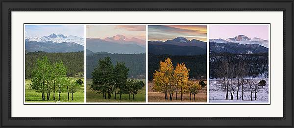 Four Seasons - Longs Peak by Aaron Spong