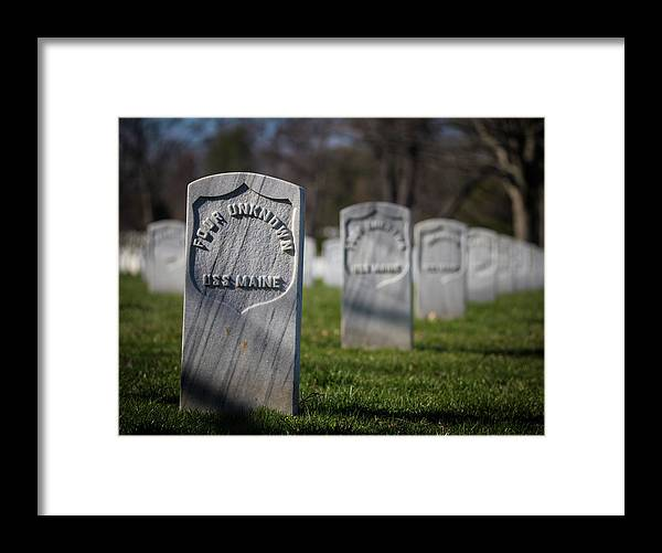 Arlington National Cemetery Framed Print featuring the photograph Four Unknowns by Fred DeSousa