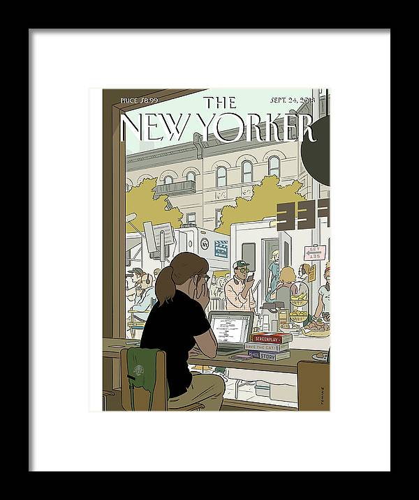 Fourth Wall Framed Print featuring the painting Fourth Wall by Adrian Tomine