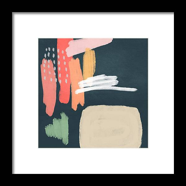 Modern Framed Print featuring the mixed media Fragments 2- Art by Linda Woods by Linda Woods