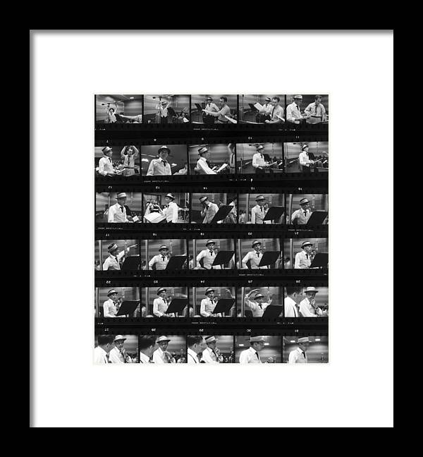 Singer Framed Print featuring the photograph Frames Of Frank by Hulton Archive