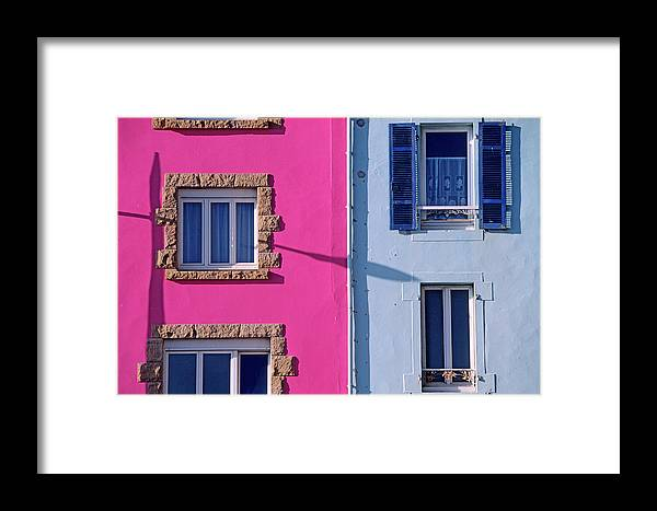 Built Structure Framed Print featuring the photograph France, Finistere, Morgat, Crozon by Gardel Bertrand / Hemis.fr