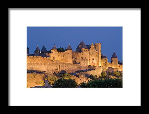 Majestic Framed Print featuring the photograph France, Languedoc, Carcassonne, Castle by Martin Child