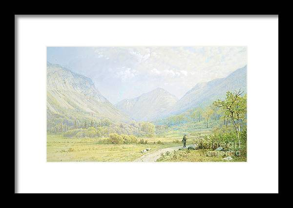 Gouache Framed Print featuring the drawing Franconia Notch by Heritage Images
