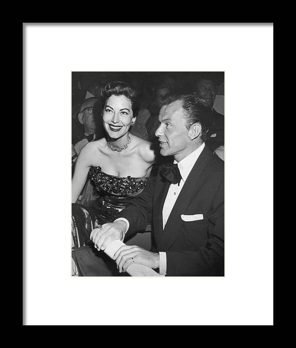 Singer Framed Print featuring the photograph Frank & Ava by Archive Photos