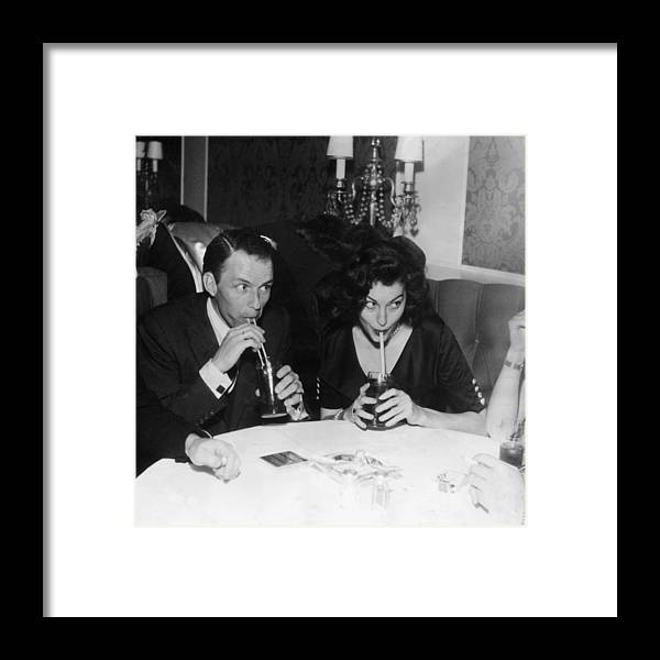 Singer Framed Print featuring the photograph Frank And Ava by Hulton Archive