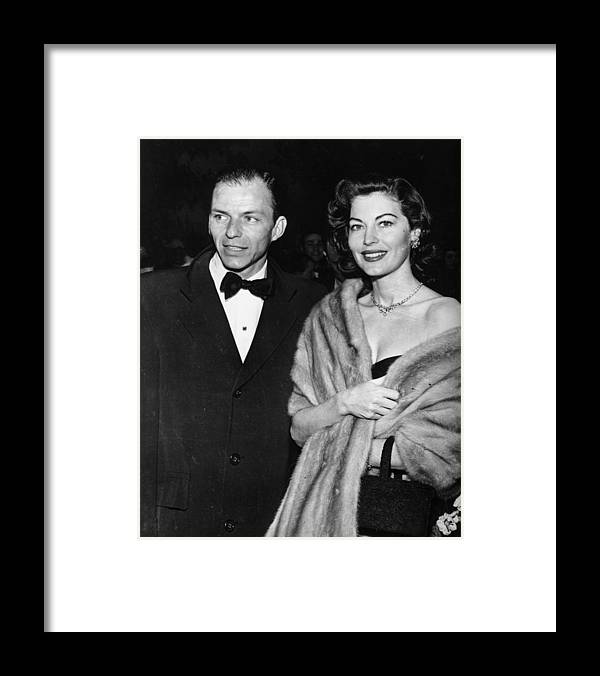 Singer Framed Print featuring the photograph Frank And Ava by Keystone