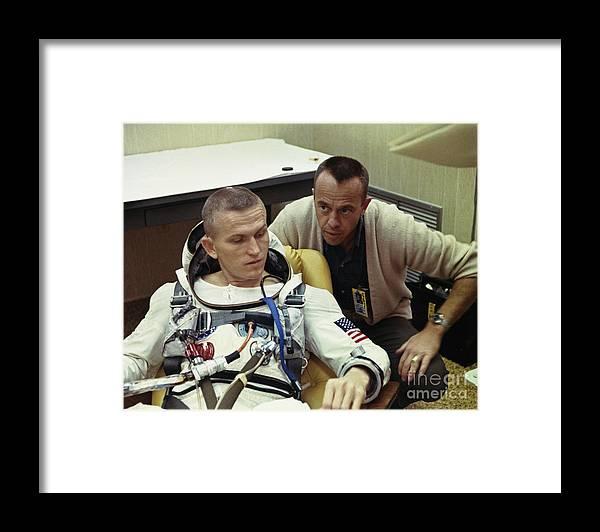People Framed Print featuring the photograph Frank Borman And Alan B. Shepard by Bettmann