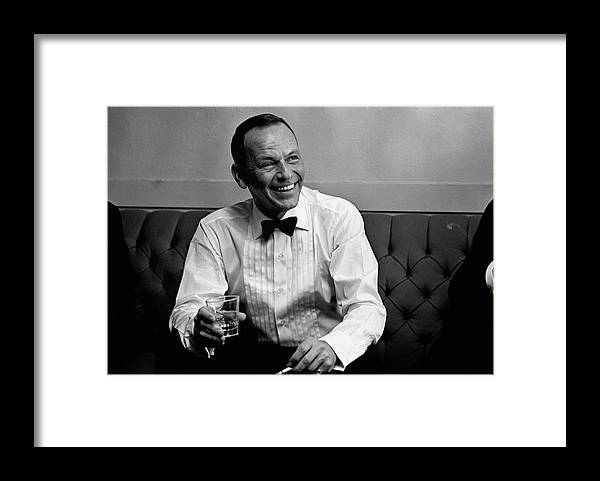 Frank Sinatra Framed Print featuring the photograph Frank Sinatra Backstage At The Sands by John Dominis