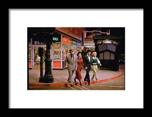 Timeincown Framed Print featuring the photograph Frank Sinatravivian Blainemarlon by Gjon Mili