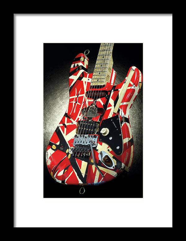 Music Framed Print featuring the photograph Frankenstrat Studio Shoot by Guitarist Magazine