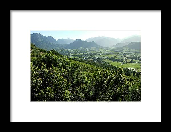 South Africa Framed Print featuring the photograph Franschhoek Valley by Ruvanboshoff